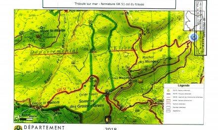 Fermeture provisoire partielle du GR 51